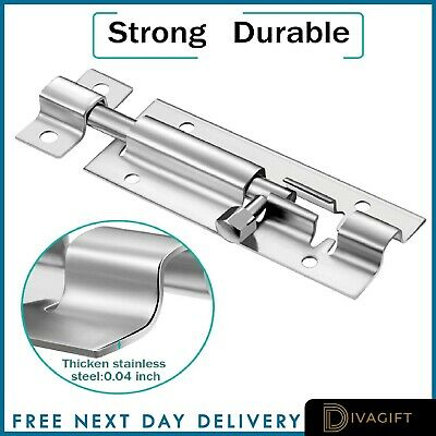 £2.35 • Buy New Slide Bolt Lock Catch Latch For Bathroom Toilet Shed Door Lock Various Sizes