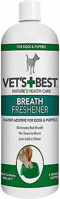 £7.41 • Buy Vets Best Dental Breath Freshener Water Additive For Dogs, 500 Ml Free Shipping
