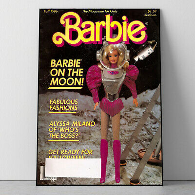 £13.56 • Buy Vintage Y2K Astronaut Barbie Poster Wall Home Decor Birthday Gift A2, A3 Sizes