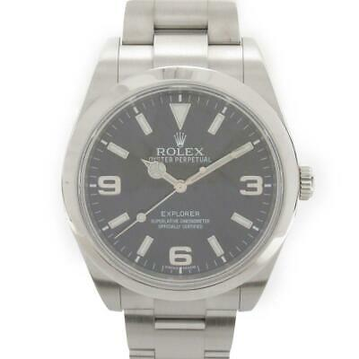 $ CDN14699.08 • Buy ROLEX Explorer 1 Watch 214270 Automatic Black Stainless Steel SS  Used Vintage