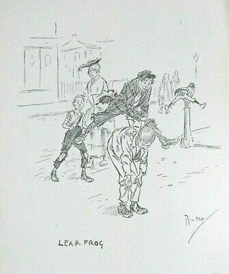 £7.99 • Buy LEAP FROG By PHIL MAY : Litho Print Of The Cartoon C1903