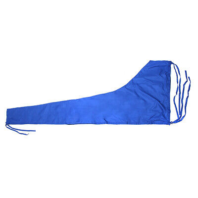 $50.99 • Buy 420D 8-9ft Sailboat Cover Blue Sail Cover Mainsail Boom Waterproof Protection