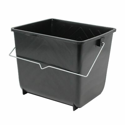 £4.50 • Buy 5 Litres Black Paint Ribbed Scuttle Metal Handle Small Rollers Plastic Bucket