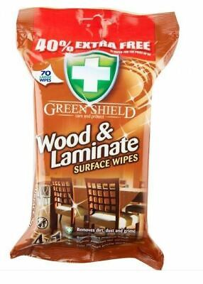 £5.95 • Buy Green Shield Wood & Laminate Floor Surface Cleaning Polishing Wipes 70 Wipes