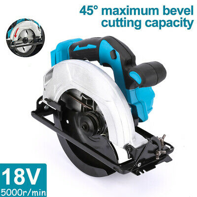 £56.99 • Buy 185mm Electric Circular Saw Body Only Wood Steel 45° Cutting Tool For 18V Makita