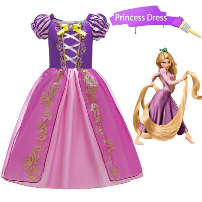 £13.99 • Buy Girls Tangled Rapunzel Fancy Dress Up Kids Princess Outfit Birthday Costume Gift