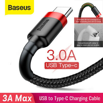 AU6.59 • Buy Baseus USB-A To TYPE-C Cable 3A QC3.0 PD Quick Charge Cable Fast Charging Cord