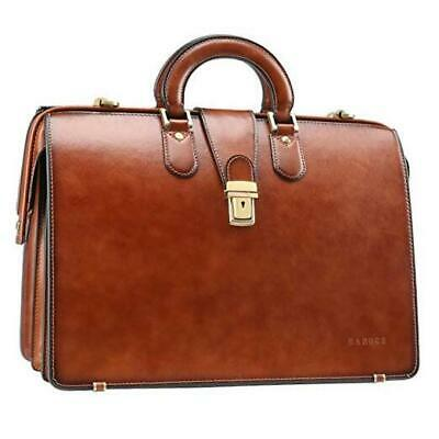 $364.85 • Buy Banuce Vintage Leather Briefcase For Men With Lock Doctor Bag Attache Brown