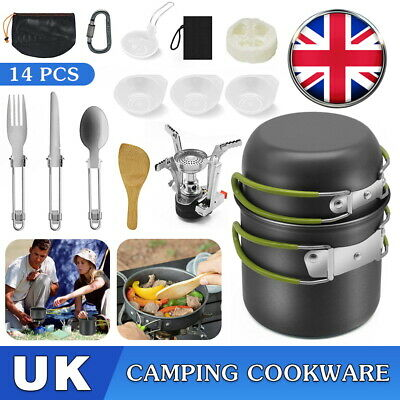 £21.59 • Buy Portable Cook Set Camping Cookware Kit Outdoor Picnic Hiking Cooking Equipment