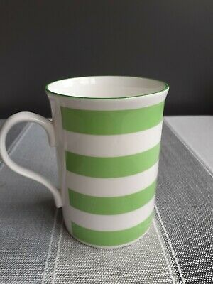 £7.90 • Buy Crown Trent Crown Regal Fine Bone China Lime Green Striped Mug. Made In England