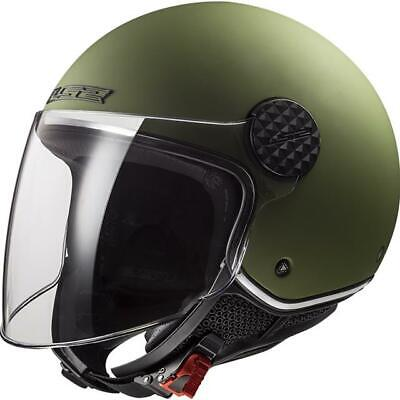 $110.81 • Buy Motorcycle Helmet Jet Polycarbonate LS2 OF558 Sphere Lux Military Green Mat Size