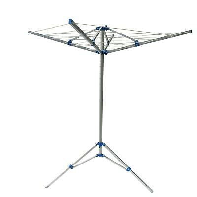 £23.99 • Buy Folding Airer Wahing Line (Aluminium Camping Rotary Clothes Carry Bag & Pegs)