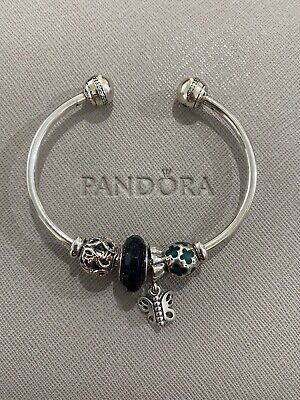 AU120 • Buy PANDORA Sterling Silver Shooting Star Open Bangle With 4 Charms