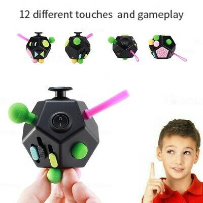 £6.49 • Buy Fidget Ball 12 Side Magic Puzzle Rubiks Cube Toy Autism Brain Stress Relief Gift