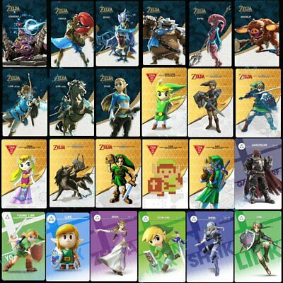 AU37.99 • Buy 24PCS Zelda Breath Of The Wild NFC Amiibo Tag Game Cards For Switch Full Set
