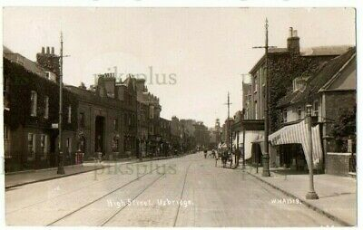 £26 • Buy Old Postcard Uxbridge High Street Middlesex W.h.a Real Photo Dated 1917