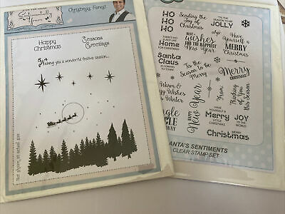 £7.95 • Buy Creative Expressions Clear Stamps. Christmas Forest & Santa's Sentiment