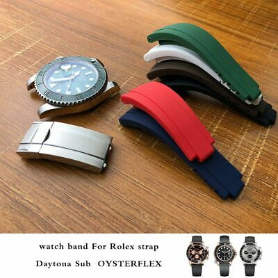 $ CDN65.19 • Buy Watch Band Silicone Strap Replacement Bracelet Belt For Rolex GMT OYSTERFLEX