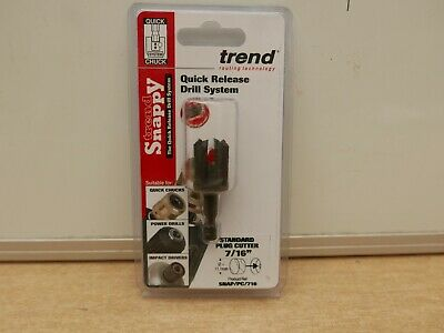 £12.85 • Buy Trend Snappy Pc716 Plug Cutter 11.1mm 7/16  Snap/pc/716