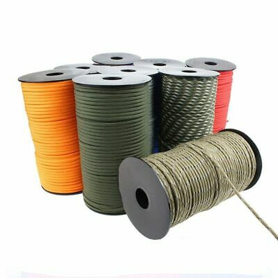 $41.74 • Buy 100M/Roll 550 Military Standard 7-Core 4mm Paracord Rope Outdoor Parachute Cord