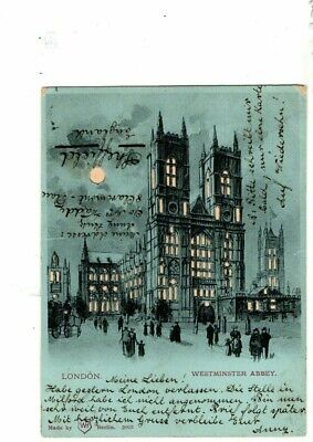 £5 • Buy Hold To Light Court Card Postcard - Westminster Abbey.  WH Berlin 3003. 1900