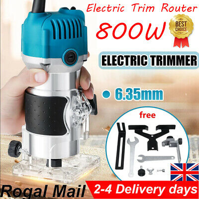 £18.49 • Buy Electric Hand Trimmer Palm Router Laminate Wood Laminator 800W 220V 1/4  UK