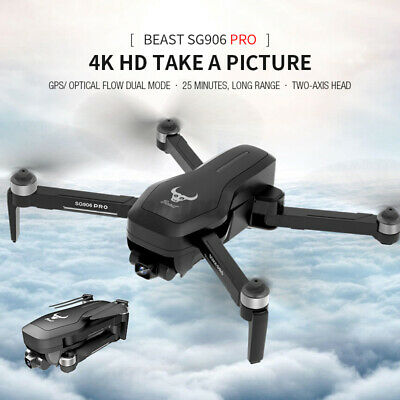 AU173.99 • Buy 5G 4K Camera Drone SG906 Pro GPS WIFI FPV With Two-Axis Brushless RC Quadcopter