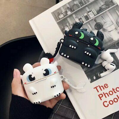 AU13.89 • Buy Mini Dragon Design Silicone For Apple Airpods Pro 1 2 Charging Protective Case