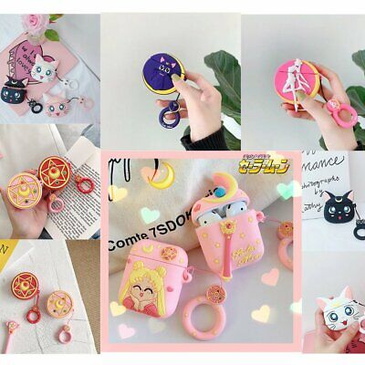 AU13.89 • Buy Sailor Moon Silicone Cover Cartoon Pendant For Apple Airpods Charging Box Case