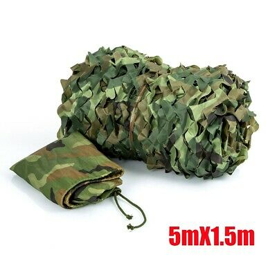 £9.79 • Buy Army Camouflage Net Camo Netting Camping Shooting Hunting Hide Woodland 5*1.5M