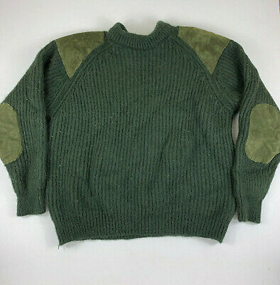 $39.99 • Buy Niffi Wool Suede Sweater US MENS  Large Heavyweight Commando Military England