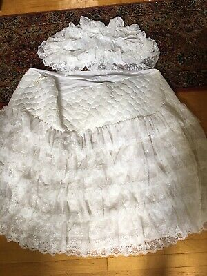 $49.95 • Buy Vintage Bassinet Lace Skirt & Lace Hood Made In USA