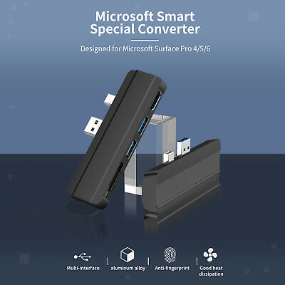 AU27.19 • Buy 5 In 1 USB Hub Port Adapter For Microsoft Surface Pro 3 5 Laptop Converter