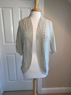 £7.27 • Buy SS SWEATER - Hollister - Shrug - Taupe / Beige - Sz Small