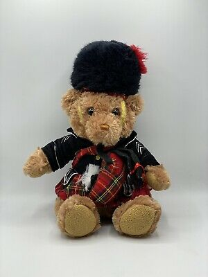 """£13.99 • Buy Keel Toys Scottish Piper-Bag Pipe Playing Teddy Bear-Approximately 15"""""""