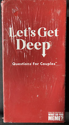 AU40.75 • Buy Let's Get Deep Adult Party Game By What Do You Meme? Questions For Couples NEW