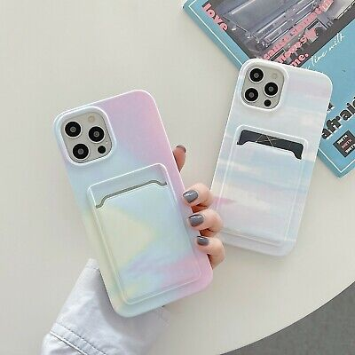 AU12.22 • Buy Gradient Case With Card Holder Phone For Iphone 7 8 Plus XS XR 11 12 Cases Cover