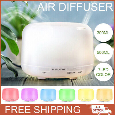 AU21.99 • Buy 500ml Essential Air Mist Oil Aroma Diffuser Ultrasonic Humidifier Aromatherapy