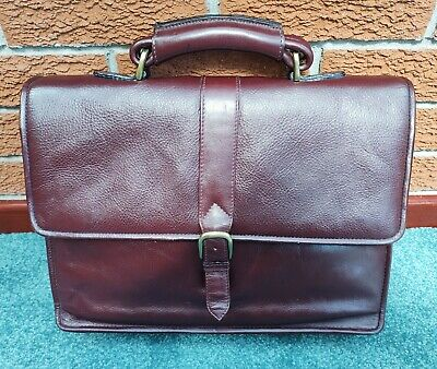 £32.75 • Buy Maroon Leather Briefcase