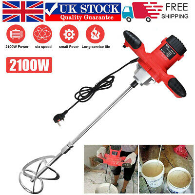 £49.99 • Buy 2100W Electric Plaster Paddle Mixer Drill Mortar Cement Paint Stirrer Whisk 220V