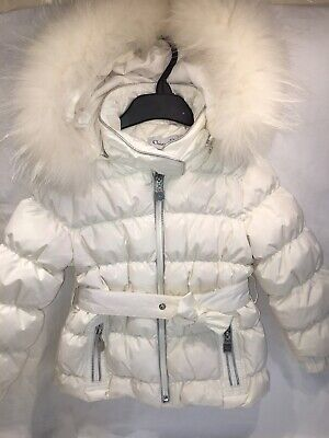 £285 • Buy New Without Tags Christian Dior Girls White Down Coat 4 Years