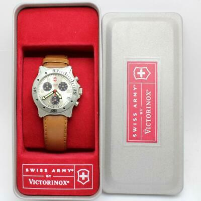 £109.07 • Buy Victorinox Swiss Army Model 24405 Centurion Chronograph Silver Dial New In Box