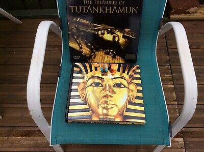 £7 • Buy The Treasures Of Tutankhamun.. A Large Book [approx 28 X 31 Cms.   In Slip Cover