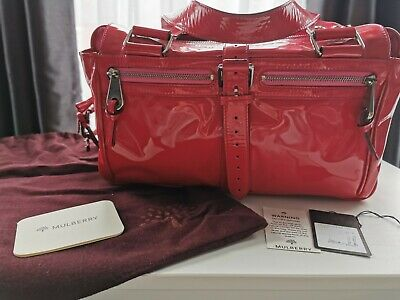 £90 • Buy Genuine Mulberry Mabel Fuschia Pink Leather Handbag With Dustbag & Care Cards