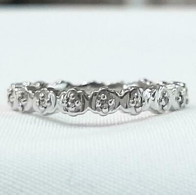£0.72 • Buy Genuine .25ctw H-SI Diamond 925 Sterling Silver Eternity Band Size 7