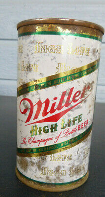 $12.99 • Buy Vintage Miller High Life White Flat Top Beer Can  Keglined Milwaukee