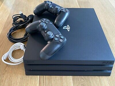 AU355 • Buy PS4 Sony PlayStation 4 Pro 1TB+ 2 Controllers! Black. As New Condition!!