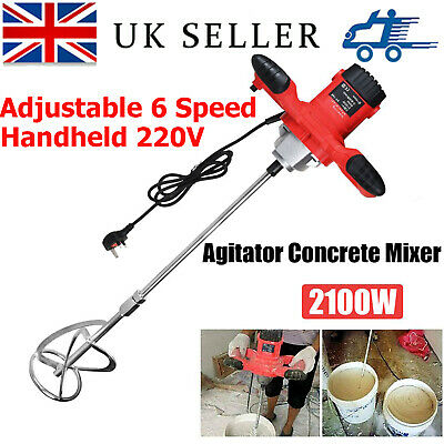 £50 • Buy Pro 2100W Electric Plaster Paddle Mixer Mortar Paint Stirrer Whisk Stirring Tool