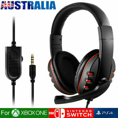 AU19.79 • Buy Gaming Headset Headphone W/ Microphone Volume Control For Sony PS4 PlayStation 4