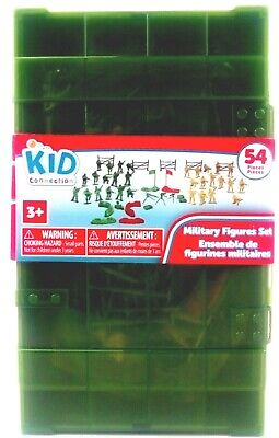 $10 • Buy NEW Military Figures Play Set Action Army Toys W/ Box Kid Connection 54 Pieces